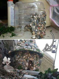 Fairy garden!                        Kamienkovy dom