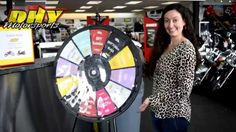 Check out this video and win with DHY Motorsport. Buy this Prize Wheel at http://PrizeWheel.com/products/floor-prize-wheels/floor-table-black-clicker-prize-wheel-12-slot/.