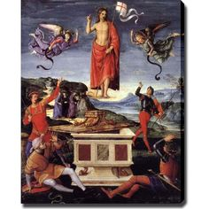 This museum quality canvas art is painted with vibrant colors and fine details. Gallery wrapped and ready to hang, it is absolutely beautiful and will bring you endless compliments. Artist: Raffaello