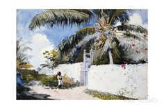 A Garden in Nassau Giclee Print by Winslow Homer at AllPosters.com