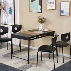 Dining Table In Kitchen, Table Desk, Home Office Furniture, Furniture Decor, Feminine Apartment, Breakfast Bar Table, Wall Mounted Table, Folding Walls, Simple Desk