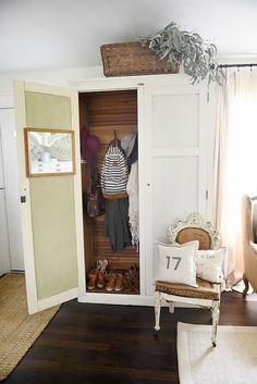 Entryway armoire - a