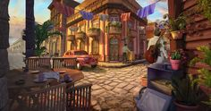 #oldcar #vitage #oldtimer #streets #building #art #gameart #gaming #gamedev #madheadgames #game #exterior