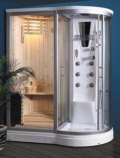 Steam Shower Units, Steam Room Shower, Shower Tub, Home Spa Room, Spa Room Decor, Jetted Bathtub, Jacuzzi, Indoor Sauna, Dry Sauna