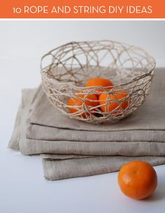 Roundup: 10 DIY Decor Projects Using String and Rope » Curbly | DIY Design Community
