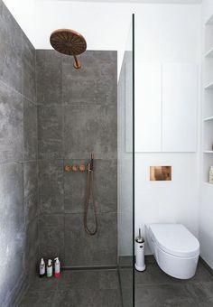 30 Brilliant Scandinavian Bathroom Design And Decor For Tiny Houses Modern Small Bathrooms, Dream Bathrooms, Modern Bathroom Design, Bathroom Interior, Bathroom Ideas, Bathroom Designs, Bathroom Showers, Bathroom Small, Bathroom Remodeling