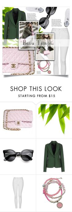 """beau temps"" by nata0 ❤ liked on Polyvore featuring Chanel, Annarita N., Anja, Topshop, GUESS and adidas Originals"