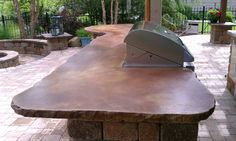 stained concrete outside patio