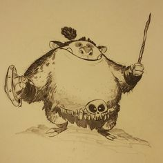 Donggle the daring #2dbean #art #creature #design #brettbean #fantasy #sketch #drawing #monster