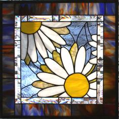 Daisy, Daisy, Give Me Your Answer True Stained Glass White Daisy Window Panel by stainedglassturtle on Etsy https://www.etsy.com/ca/listing/127345232/daisy-daisy-give-me-your-answer-true
