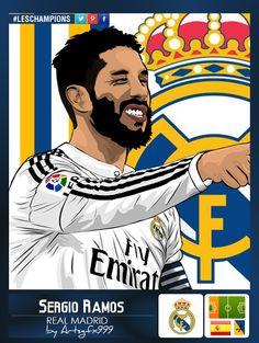 Sergio Ramos Vector Art Sticker #LesChampions by ArtsGFX999.deviantart.com on @DeviantArt