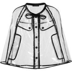 Burberry Prorsum Transparent Raincoat...reminds me of raincoats I had as a kid