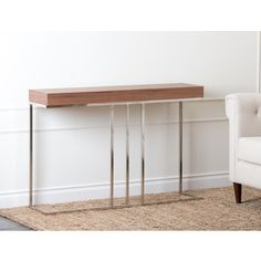 @Overstock.com - Abbyson Living Verona Walnut Sofa Table - Enhance your homes decor with this Verona sofa table. This table features beautiful walnut finish and a durable construction.  http://www.overstock.com/Home-Garden/Abbyson-Living-Verona-Walnut-Sofa-Table/6459476/product.html?CID=214117 $276.99