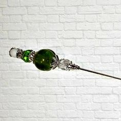 Green Victorian Edwardian Vintage Style Color Glass Antique