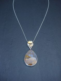 IMPERIAL JASPER & CITRINE gemstone necklace