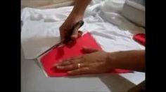 como fazer biquine de tecido plano - YouTube