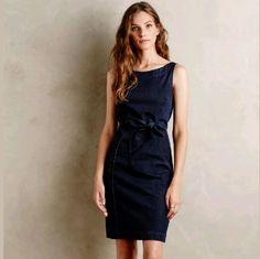 Anthropologie Denim Sheath Dress Size S