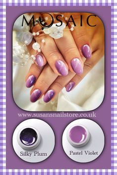 Mosaic gel paints are very high pigmented paints! Most of the colours cover only in 1 coat. Curing time is 1 minute in 36watt UV lamp. 5ml £10.50. Order yours here: www.susansnailstore.co.uk Use code: NEWYEAR to get 10%off from your order. Salon Nails, Nail Technician, Nail Artist, How To Do Nails, Mosaic, Nail Polish, Pastel, Colours, Coat