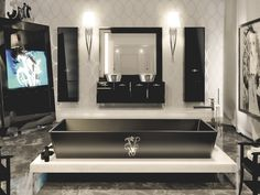 For striking and often glamor bathroom ideas, black bathtubs are the perfect choice. To make a bathtub the focus point, you'll do best with the freestanding installation. Made from ceramic,...