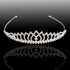 Cute Party Peach Style Rhinestone Crown Tiara Headband