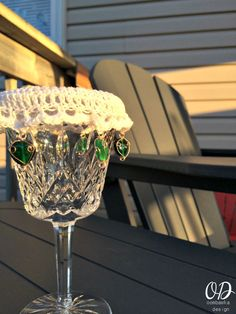 Close up   Wine Glass Cup Cover   Free Pattern