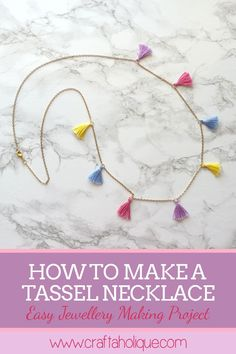 DIY this gorgeous tassel necklace to dress up any casual outfit! Easy jewellery making project that's perfect for summer.