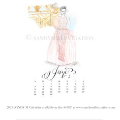 The first SANDY M 2015 Fashion Illustration Calendar is available now! All of the girls in the illustrations are wearing gowns from designer spring summer 2015 collections! June's girl (who has in her hand a cone of pink cotton candy as she walks down the sparkling midway of a summer carnival) is wearing #moniquelhuillier ✨ CALENDAR AVAILABLE AT www.sandymillustration.com #illustration #fashion #calendar #sandym2015calendar
