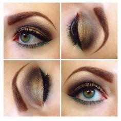 Gold and earthy eye by Merle Norman!