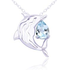 "Sterling Silver Blue Topaz Dolphin Pendant Necklace, 18"" Amazon Curated Collection, http://www.amazon.com/dp/B003UV9S5E/ref=cm_sw_r_pi_dp_p-xmqb1TBTSG3"