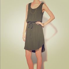 Marc by Marc Jacobs dress Army green drawstring dress from Marc by Marc Jacobs with oversized pockets in front and a lighter green hemline. Marc by Marc Jacobs Dresses