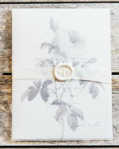 Gray Vellum Wine Country Wedding Invitations by Honey Paper