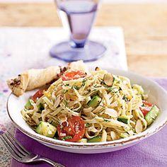 Pasta with Zucchini and Toasted Almonds Menu | MyRecipes.com