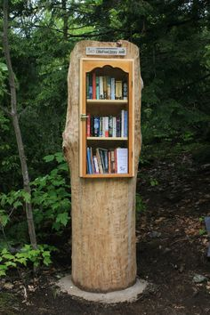 """Kathy Ross. Utterson, Ontario, Canada. We live in """"cottage country"""" on Tribble Road. Most of our neighbors come here for the summer season. I have a large collection of books that I want to share with them. Building a Little Free Library is a great way to share and to get to know the people who vacation on the lake near our rural road. I hope they all enjoy it!"""