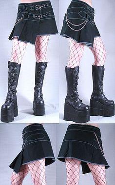 Neo Kilt Skirt / Cryoflesh.com - urban future wear