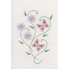 stitching cards Butterflies and Flowers 2 pattern
