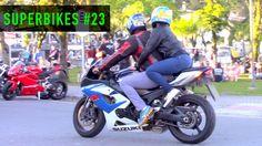 SUPERBIKES #23 - Hornet no GRAU e cortando giro! Motos esportivas acelerando!