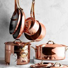 Oval 5 Piece Contemporary Copper Storage Set