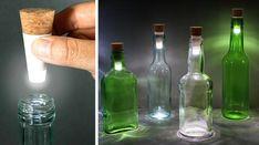 Transformez vos Vieilles Bouteilles en Lampes Grâce à Ces Bouchons LED.