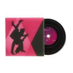 On the 45 (Erstwilder Pink Resin Record Brooch), now available. Hand assembled and hand painted, presented in a branded box.