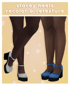 this is a retexture and recolor of stacey heels! i removed the glitter and it is now more maxis match ^__^ base game compatible teen-elder you.
