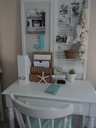 Beach style desk cottage-shabby-and-white-decor