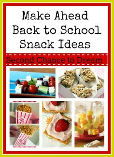 Make Ahead Back to School Snacks. Lists. Lots of lists!!