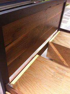 Custom Made Modern Sappy Walnut Danish Platform Queen Bed