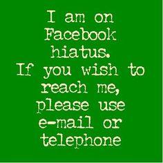 Taking a Break from Facebook Social Media Detoxing
