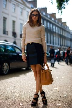 The Olivia Palermo Lookbook : Olivia Palermo on UK Vogue's Best Dressed List for...