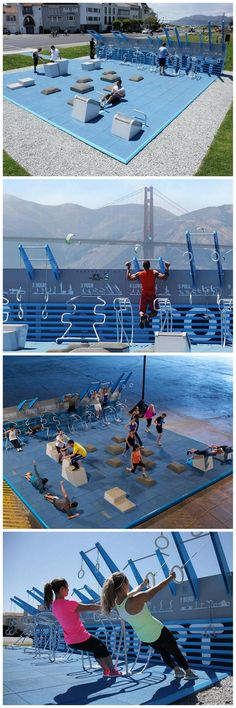 Low-cost, open-air pop-up gym, San Fran [NewDealDesign]
