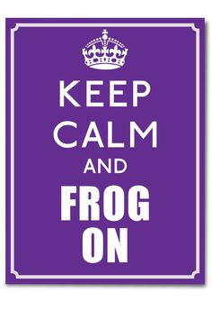 Keep Calm And Frog On Notecards.