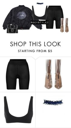 """""""-"""" by roexstylez89 ❤ liked on Polyvore featuring Wolford, Rochelle Sara and Gucci"""