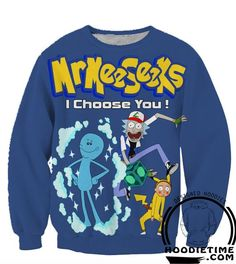 Rick and Morty Hoodies - Pokemon and Rick and Morty Crossover Hoodie - 3D Pullover Clothing WANT!