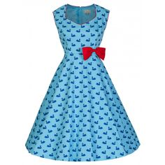 a444ad70ed5 Look at this Lindy Bop Blue Swan Leda A-Line Dress - Plus Too on today!